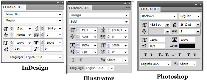 Adobe Suite: Formatting Text