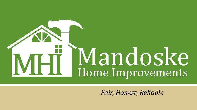 Mandoske home improvement andrea wentzell for mandoske home improvement i rebranded the company through a new logo design new business cards t shirts designs and car magnets reheart Image collections