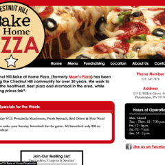 Chestnut Hill Bake at Home Pizza