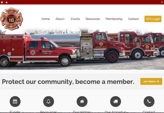Daretown Fire Company Website